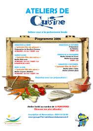 programme cuisine ateliers de cuisine programme 2016 office de tourisme de st