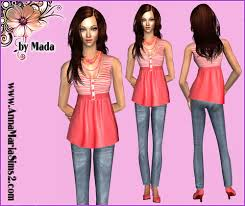 Liana Sims 2 Preview Women S Clothing Swimwear Annamariasims2 Com Free Clothes Accesories Sims Models And