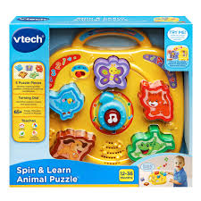 vtech spin and learn animal puzzle toy toys