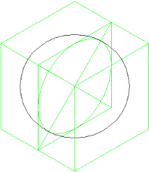 how to draw a sphere in isometric projection updated