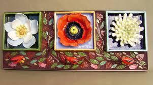 handmade flower box trio wall hanging home or garden decor