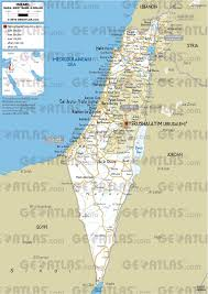 Israel World Map by Geoatlas Countries Israel Map City Illustrator Fully