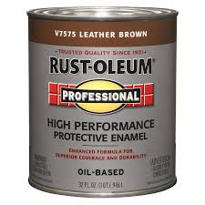 shop rust oleum professional leather brown gloss oil based enamel