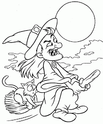 Halloween Coloring Pages Adults Free Halloween Coloring Pages Witches Coloring Page
