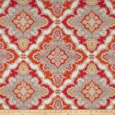 Tangerine Home Decor by P Kaufmann Indoor Outdoor Home Decor Fabric Discount Designer