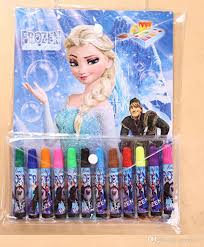 cheap frozen 12 painting pens drawing book children