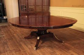 Large Round Solid Walnut Dining Table With Hidden Leaves 64 To 84 Brilliant Design 84 Round Dining Table Stylish Inspiration Solid