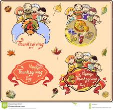 family on thanksgiving stock vector image 45626581