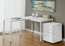 awesome modern white l shaped corner parson u0027s desk with mobile