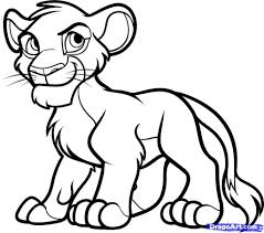 king sketch images for kids free the lion king coloring pages for