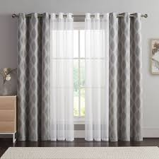 vcny 4 pack jasper double layer curtain set living room