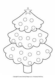 christmas tree colouring 3