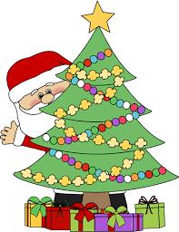 christmas tree images santa behind a christmas tree clip art santa behind a christmas