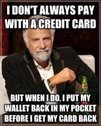 Meme Credit Card - credit card meme kappit