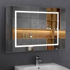 Large Bathroom Mirrors Bathroom Cabinets Led Illuminated Illuminated Bathroom Cabinet