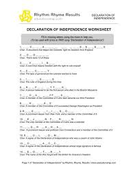Declaration Of Independence Worksheet Answers Declaration Of Independence Clipart Britain Pencil And In Color