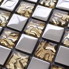 aliexpress com buy silver mixed golden stainless steel glass
