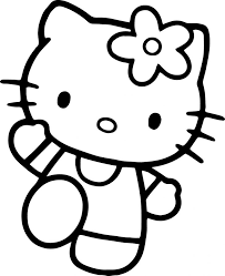 christmas kitty coloring pages kids printable pictures