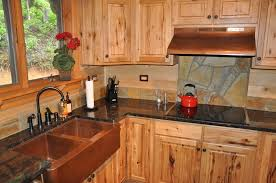 home decor rustic wooden unfinished oak kitchen cabinet with dark