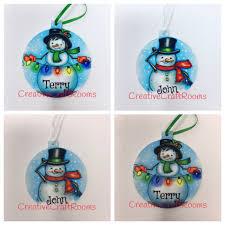 snowman ornament snow ornament personalized ornament