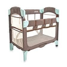 arm u0027s reach mini arc co sleeper in java dot bed bath u0026 beyond
