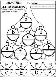free ornament alphabet activity students cut and paste