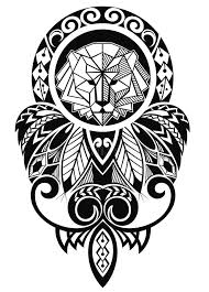tattoo design with lion stock vector image of dream 61058674