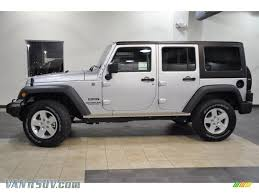 black jeep wrangler unlimited 2011 jeep wrangler unlimited sport 4x4 in bright silver metallic