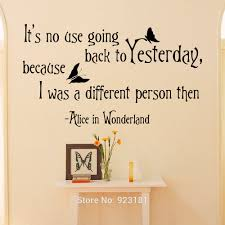 Alice And Wonderland Home Decor by Alice In Wonderland Quotes Wall Art Sticker Decal Home Diy