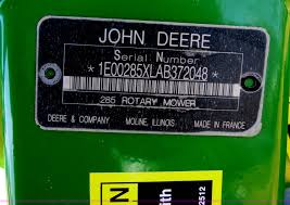 2012 john deere 285 rotary disc mower item b4877 sold m