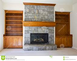 open fireplace and book shelf stock images image 20895594