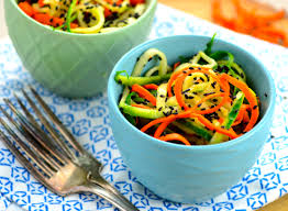 Noodle Salad Recipes Spiralized Cucumber U0026 Carrot Salad May I Have That Recipe