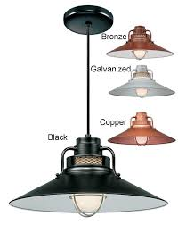 Galvanized Outdoor Light by Railroad Pendant Light W Cord 4 Colors Indoor Outdoor 14 18