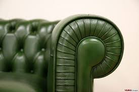 Green Leather Sofa by Smaller Chesterfield Sofa Chesterino