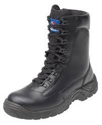 Himalayan Kitchen Durango Himalayan Black Lightweight Leather Metal Free Safety Combat Boot