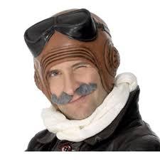 pilot halloween costumes amazon com latex vintage fighter pilot costume hat clothing