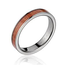 womens titanium wedding bands women s titanium wedding band with pink ivory wood inlay