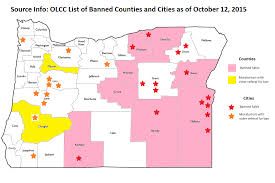 Oregon Counties Map by Local Roundup For Oregon Cannabis October 12 2015 Portland Norml