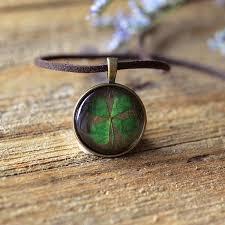 clover leaf necklace images Pressed four leaf necklace apollobox jpg
