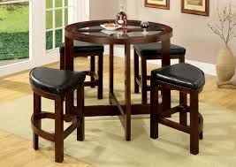 stunning counter height dining sets with wooden angular chairs