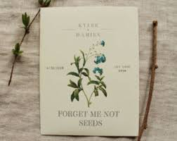 forget me not seed packets plant these seeds and them bloom baby shower favor sign