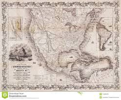 Vintage United States Map by Map Of Usa Canada Mexico Tomtom Map Of California And Mexico Map
