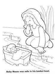 bible coloring baby moses preschool kid printables