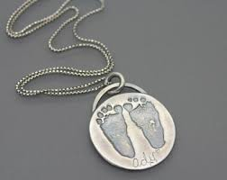 footprint necklace personalized footprint necklace etsy