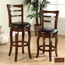 Dark Oak Wood Furniture Shop Furniture Of America Southland Dark Oak 29 In Bar Stool At