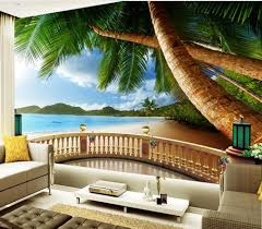 aliexpress com buy landscape wallpaper murals beach scenery