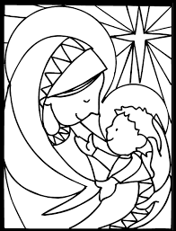 christian christmas coloring pages print