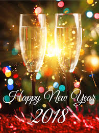 new year photo cards sparking happy new year card 2018 birthday greeting cards by davia
