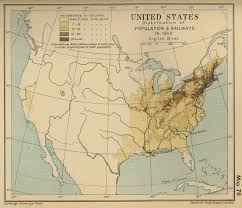 Map If Us Of The United States Population 1850