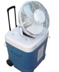 fan that uses ice to cool 24 oscillating high velocity misting fan with mid or high pressure
